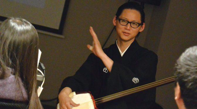 文楽の魅力 三味線弾きの鶴澤友之助さんが語りました